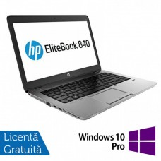 Laptop HP Elitebook 840 G2, Intel Core i5-5300U 2.30GHz, 8GB DDR3, 120GB SSD, Webcam, 14 Inch + Windows 10 Pro
