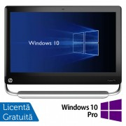 All In One HP TouchSmart Elite 7320, 21.5 Inch Full HD LED, Intel Core i3-2120 3.30GHz, 4GB DDR3, 500GB SATA, DVD-ROM, Webcam, Fara picior + Windows 10 Pro