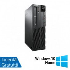 Calculator Lenovo ThinkCentre M92p SFF, Intel Core i3-3220 3.30GHz, 4GB DDR3, 240GB SSD, DVD-RW + Windows 10 Home