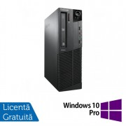 Calculator LENOVO Thinkcentre M91P SFF, Intel Core i5-2400 3.10GHz, 4GB DDR3, 250GB SATA, DVD-RW + Windows 10 Pro