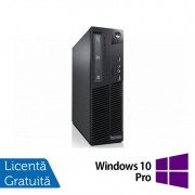 Calculator LENOVO ThinkCentre M82 SFF, Intel Core i3-3220 3.30GHz, 4GB DDR3, 250GB SATA, DVD-RW + Windows 10 Pro