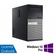 Calculator DELL Optiplex 7010 Tower, Intel Core i7-3770s 3.10GHz, 4GB DDR3, 250GB SATA, DVD-RW + Windows 10 Pro