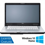 Laptop FUJITSU SIEMENS E751, Intel Core i5-2430M 2.40GHz, 4GB DDR3, 120GB SSD, DVD-RW, 15.6 Inch, Webcam + Windows 10 Home