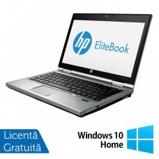 Laptop HP EliteBook 2570p, Intel Core i5-3320M 2.60GHz, 4GB DDR3, 240GB SSD, Fara Webcam, 12.5 Inch + Windows 10 Home