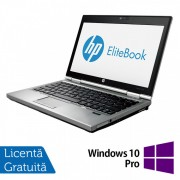 Laptop HP EliteBook 2570p, Intel Core i5-3320M 2.60GHz, 4GB DDR3, 120GB SSD, DVD-RW, 12.5 Inch + Windows 10 Pro