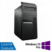 Calculator Lenovo Thinkcentre M83 Tower, Intel Core i7-4770 3.40GHz, 4GB DDR3, 250GB SATA, DVD-ROM + Windows 10 Pro