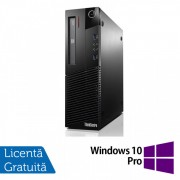 Calculator Lenovo Thinkcentre M93p SFF, Intel Core i7-4770 3.40GHz, 4GB DDR3, 500GB SATA, DVD-RW + Windows 10 Pro